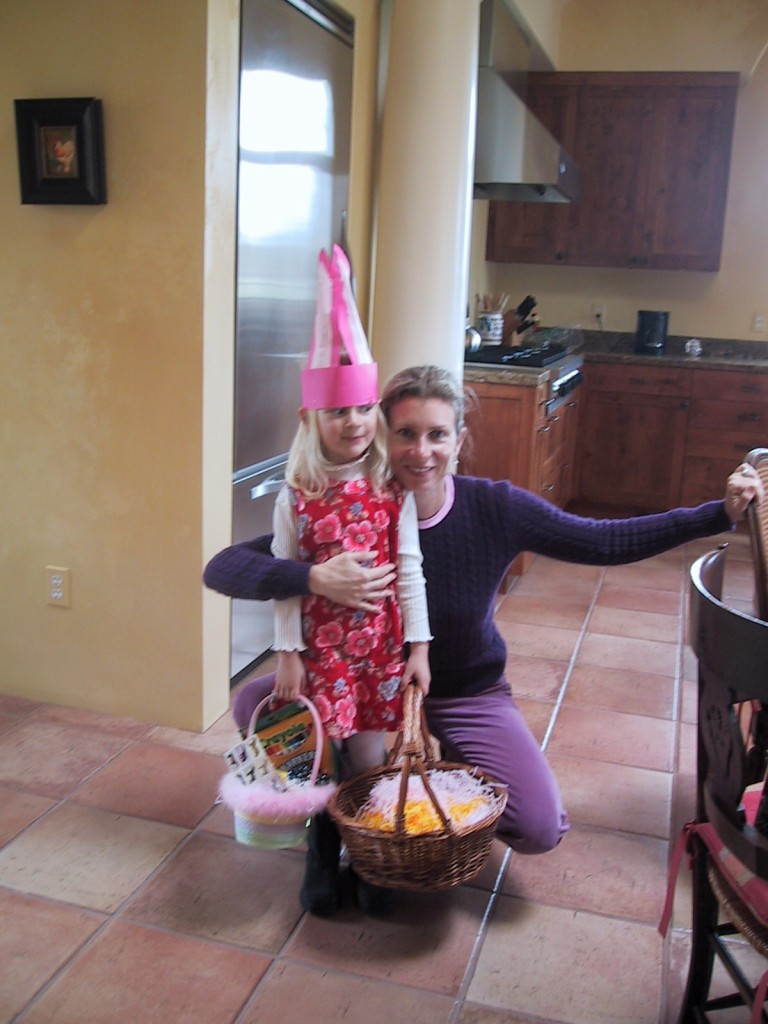 Easter with my niece '06