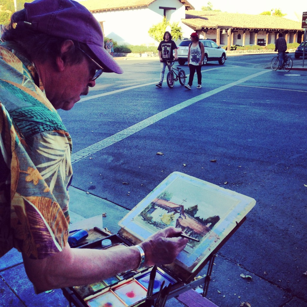 Plein Air, Outdoor painting, Sonoma, Sonoma Mission